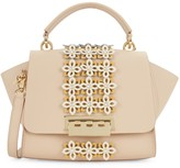 Zac Posen Eartha Embellished Leather Top Handle Crossbody Bag