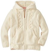 Girls Fluffy Cable Sweater Hoodie