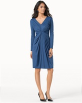 Soma Intimates Catherine Twist Front Long Sleeve Dress Navy