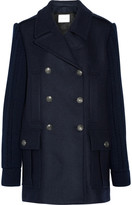 Pierre Balmain Double-breasted Wool-blend Coat - Midnight blue