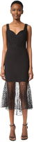 Prabal Gurung Sweetheart Combo Sheath Dress