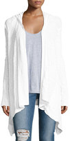 LAmade Dani Hooded Open-Front Cardigan, White