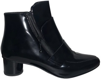 Opening Ceremony Black Patent leather Ankle boots