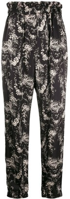 8pm Floral-Print Pull-On Trousers