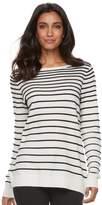 Elle Women's Striped Crewneck Sweater