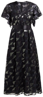 Goat Evangelina Tie-waist Fil-coupe Dress - Womens - Black Multi