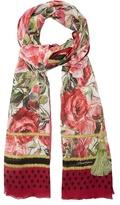 Dolce & Gabbana Rose-print silk scarf