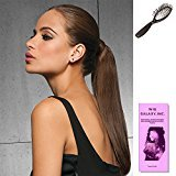 """Hairdo. by Jessica Simpson & Ken Paves (3 - Item Bundle) 16"""" Wrap-Around Human Hair Pony by Hairdo, Loop Brush and a Wiggalaxy Booklet (R25)"""