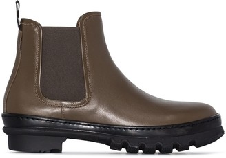 LEGRES Garden leather Chelsea boots