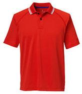 Classic Men's Active Pique Polo Shirt-Deep Jade Stripe