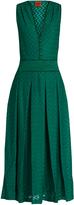 Missoni Deep V-neck sleeveless zigzag-knit gown