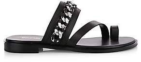 MICHAEL Michael Kors Women's Bergen Leather Flat Sandals