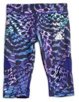 adidas Little Girl's Printed Capri Pants
