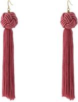 Vanessa Mooney Astrid Knotted Tassel Earrings Earring