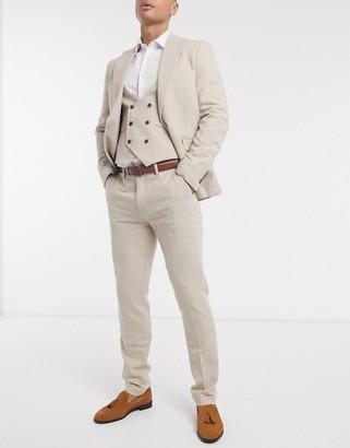 Gianni Feraud slim-fit herringbone wool suit pants