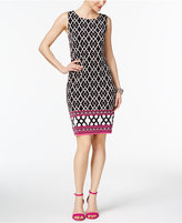INC International Concepts Petite Mixed-Print Sheath Dress, Created for Macy's