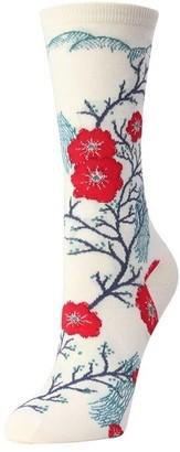 Natori Plum Blossom Crew Socks