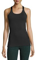 Beyond Yoga Silhouette Triple-Mesh Tank, Black