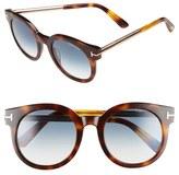 Tom Ford 'Janina' 51mm Round Sunglasses