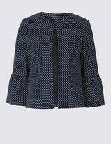 Marks and Spencer PETITE Spotted Jersey Blazer