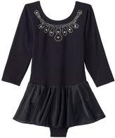 Jacques Moret Girls 4-16 3/4-Length Sleeve Black Skirtall