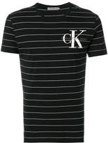 CK Calvin Klein striped logo T-shirt