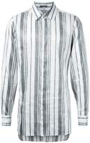 Ann Demeulemeester rear fastening stripe shirt