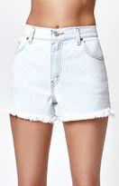 LA.EDIT Butt Slit Denim Shorts