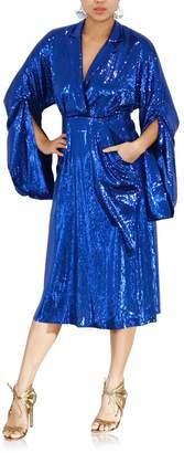 Greta Constantine Voile Sequin Dress
