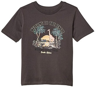 Cotton On Max Skater Short Sleeve Tee (Toddler/Little Kids/Big Kids) (Dark Shadow/Welcome To The Jungle) Boy's Clothing