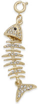INC International Concepts Gold-Tone Crystal Fishbone Charm, Only at Macy's