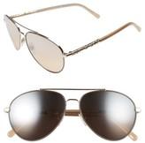 Burberry Women's 58Mm Aviator Sunglasses - Silver Mirror Gradient