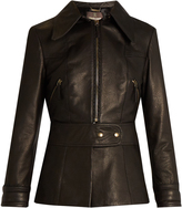 Roberto Cavalli Point-collar leather jacket
