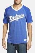 Mitchell & Ness Men's 'Los Angeles Dodgers' V-Neck T-Shirt