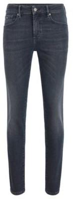 HUGO BOSS Skinny-fit jeans in dip-dyed super-stretch denim