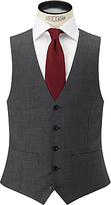 John Lewis Sharkskin Super 100s Wool Regular Fit Waistcoat, Mid Grey