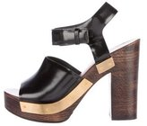 Rosetta Getty Leather Platform Sandals