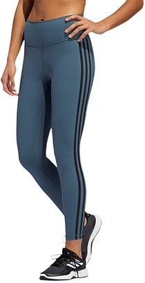 adidas Believe This Stripe 7/8 Tights (Legacy Blue/Black) Women's Casual Pants