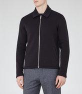 Reiss Reiss Decoy - Zip-front Jacket In Blue, Mens