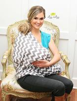 Motherhood Itzy Ritzy Nursing Scarf - Grey Chevron