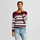 Women's Patterned Pullover Sweater - Mossimo Supply Co. (Juniors')