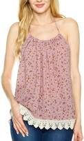 New Mode Floral Print Halter Top