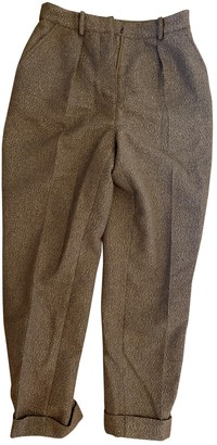 Polder Gold Wool Trousers for Women