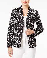 Tommy Hilfiger Floral-Print Open-Front Blazer, Only at Macy's