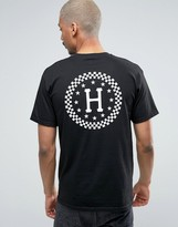 Huf T-shirt With Checkered Back Print