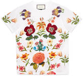 Gucci Flower print cotton tee