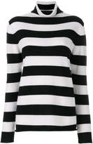 Majestic Filatures striped turtleneck jumper