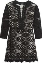 Just Cavalli Guipure-lace mini dress
