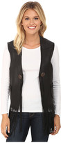 Scully Eva Mesh Back leather Vest