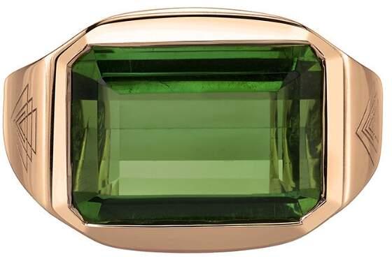 Ark Green Tourmaline Creation Ring - Rose Gold